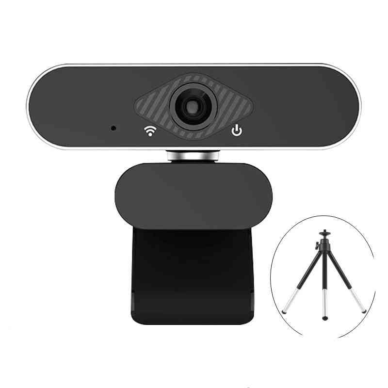 Web Camera For Pc Microphone Usb, Webcam Widescreen Video, Teaching Live With Stand