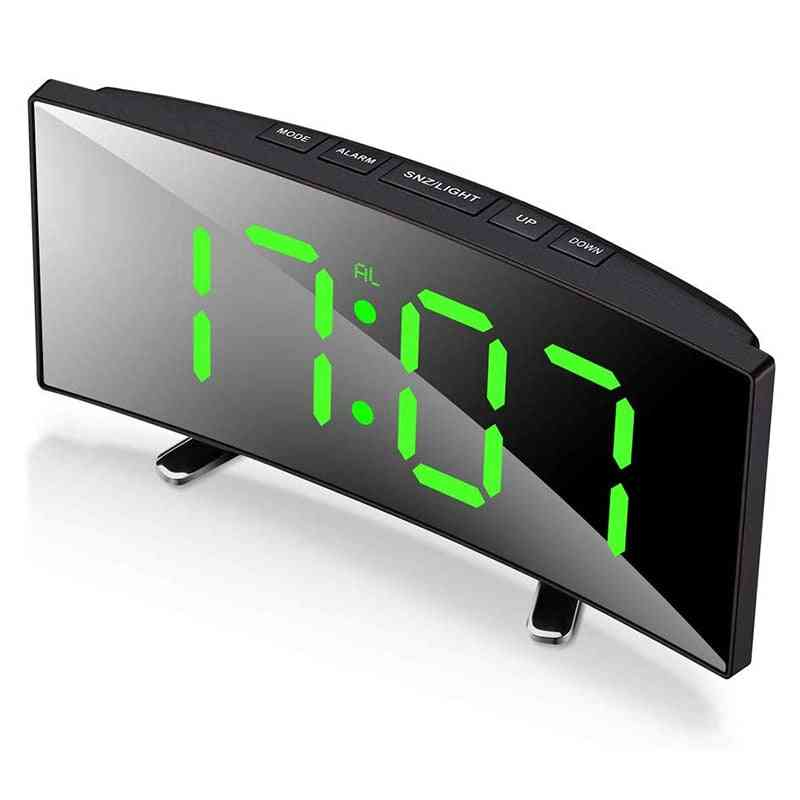 Table Curved Dimmable Led, Electronic Digital, Desktop Clock