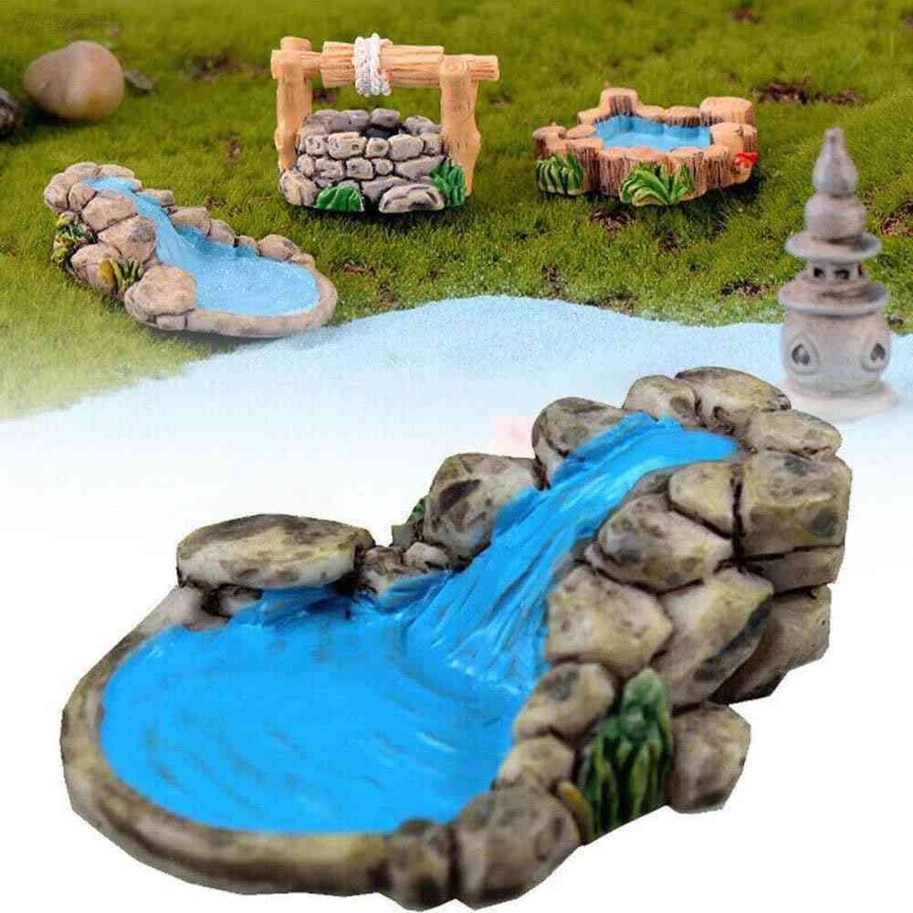 Mini Water Well Bridge- Figurines Miniature, Craft Fairy Moss Terrarium, Ornament Garden Decor