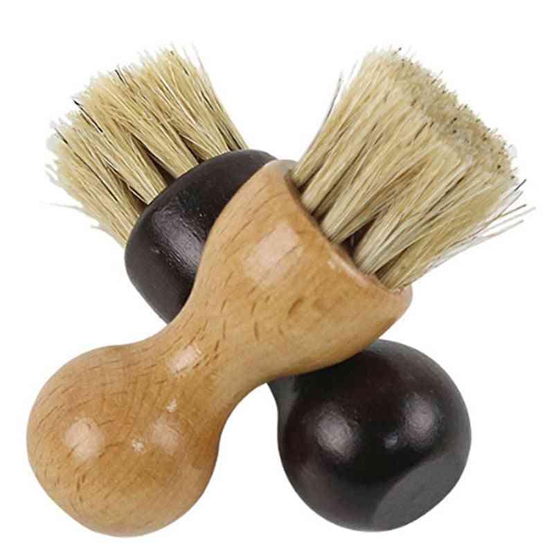 Hot  Wooden Handle Shoes Shine Brush