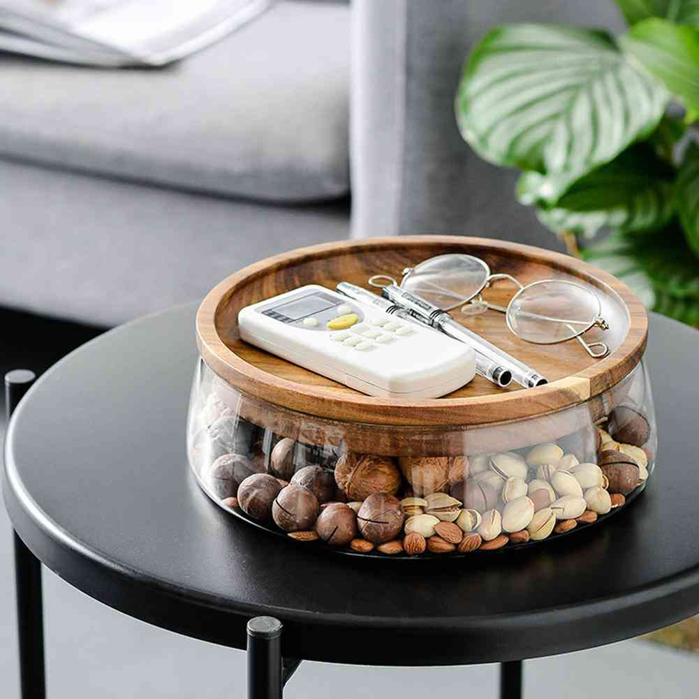 Creative Glass Nuts And Dry Fruits, Storage Box Container