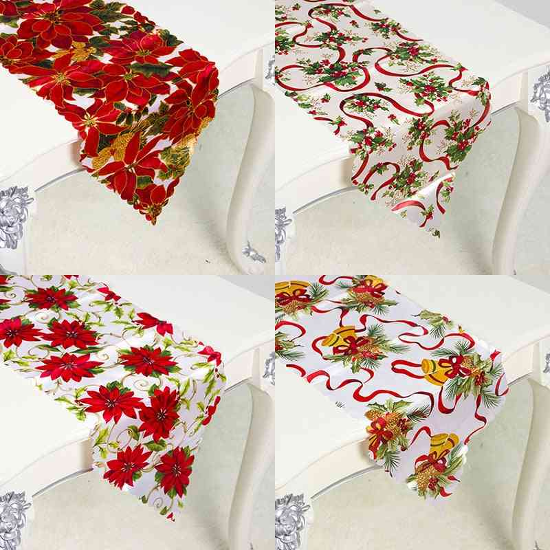 Chinese Red Flower- Classic Patchwork, Table Decoration, Runner Mat