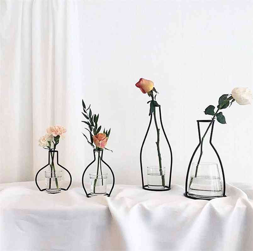 Retro Iron Line, Table Flowers Vase