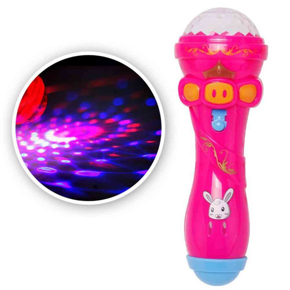 Flashing Projector Lighting, Wireless Microphone Stick Toy For Child
