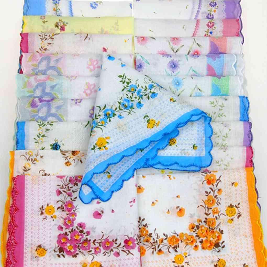 Colorful Antique, Floral Handkerchief(handkerchief)