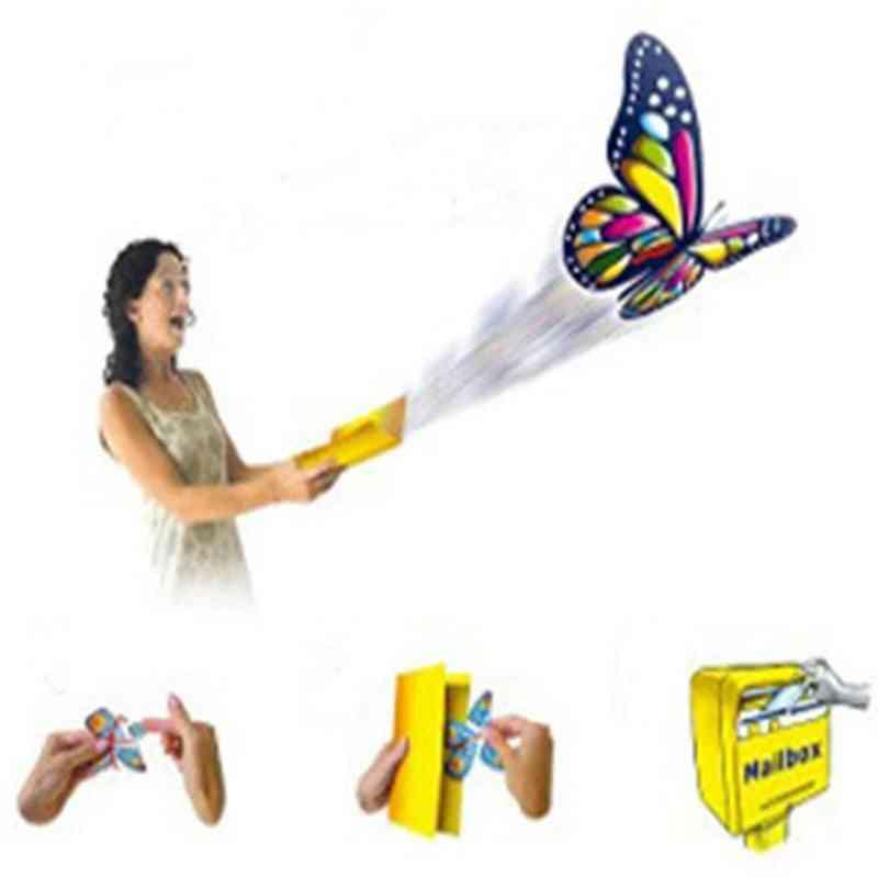Hailing Flying Butterfly, Steel Frame Magic Props, Fun Prank Shocker For   (random Color Onesize)
