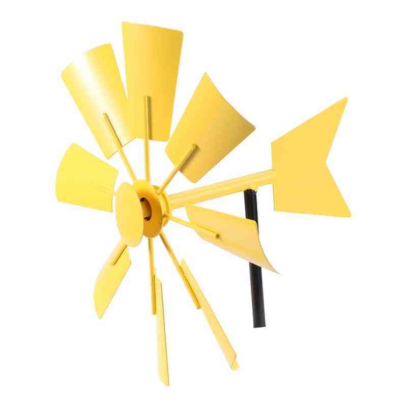 Iron Windmill Yard Winnower Garden Flower Ornament