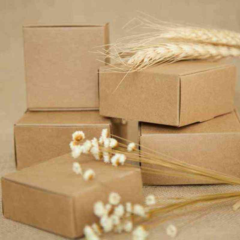 Kraft Paper Packing Box For Wedding, Birthday
