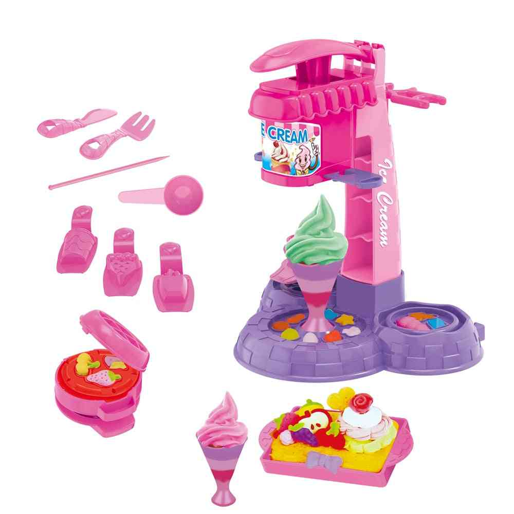 Diy Clay Dough Plasticine Ice Cream Machine Mould Play Kit