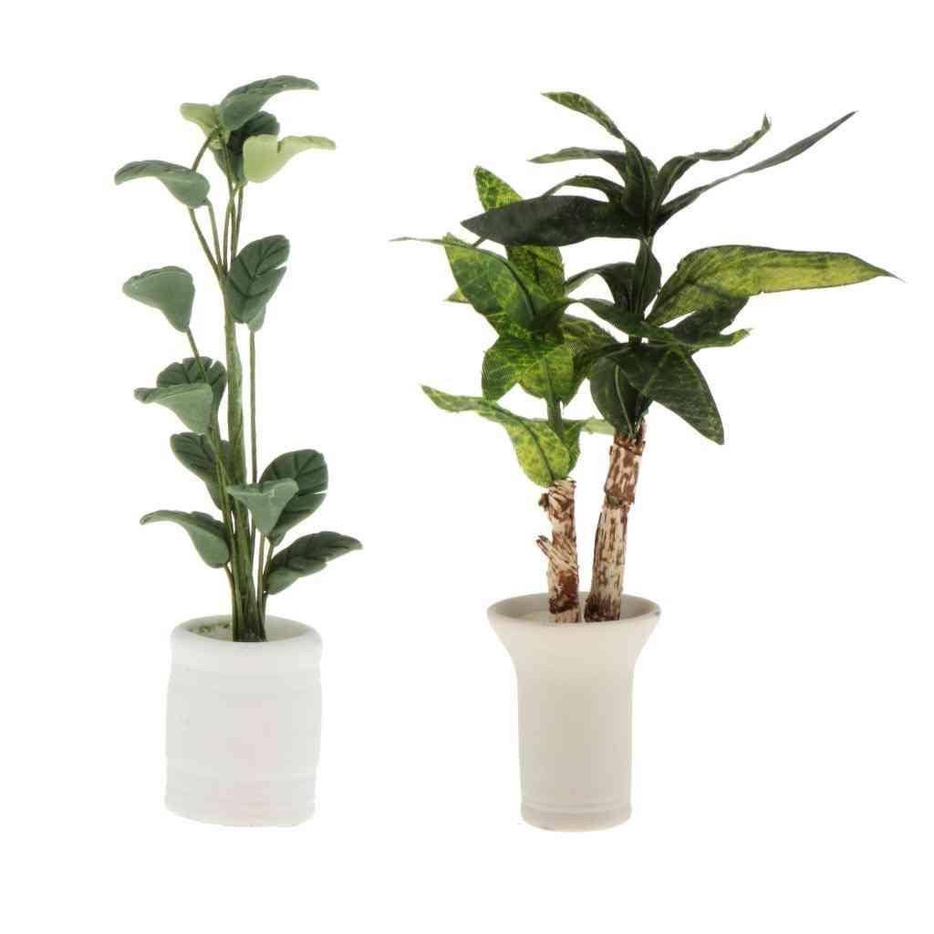Dollhouse Miniatures In Pot Plants, Garden Decoration Ornaments