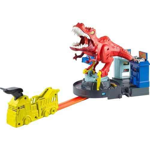 T-rex Attack Play Set,fun Sound Rotating Dinosaur