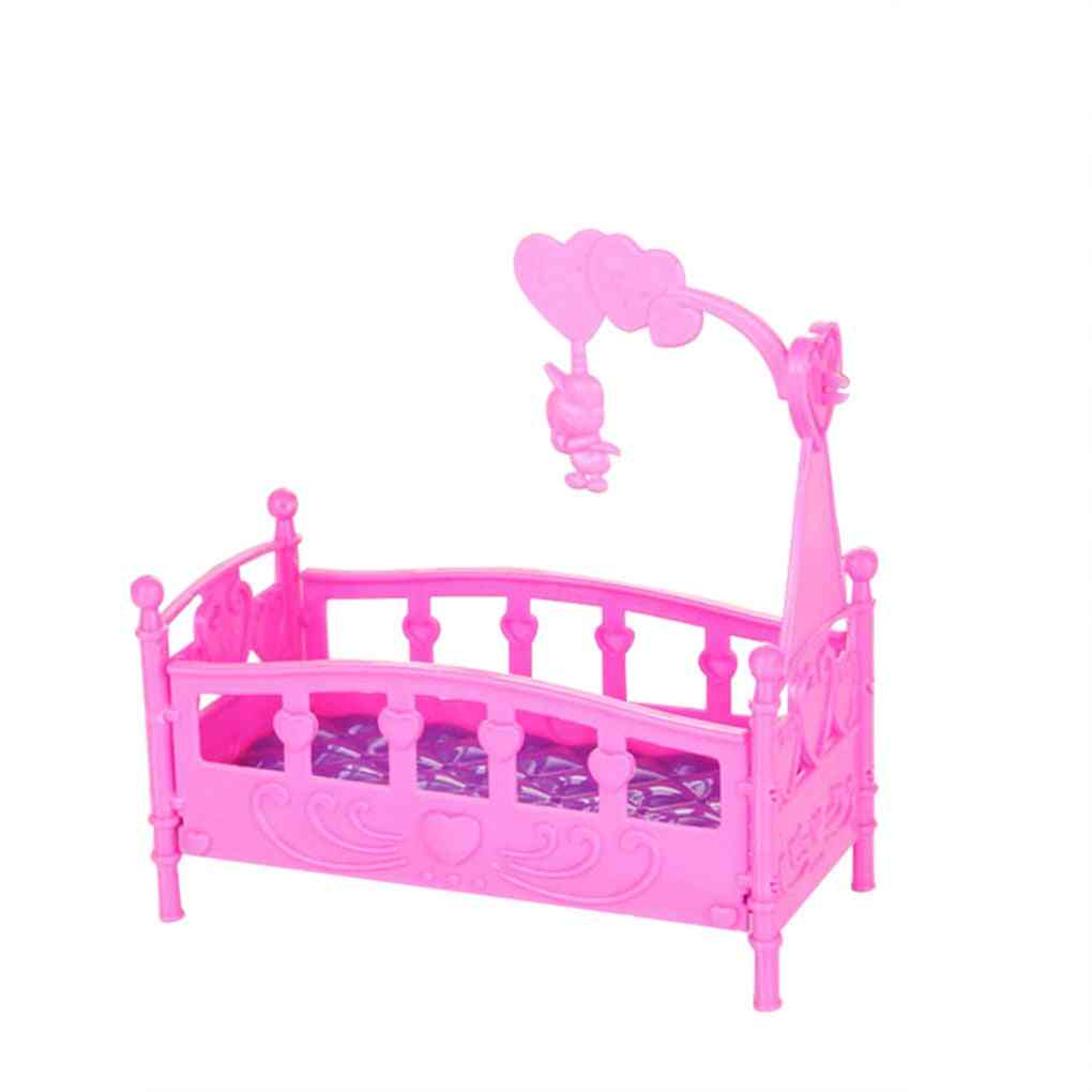 Rocking Cradle Bed Doll House Furniture Toy