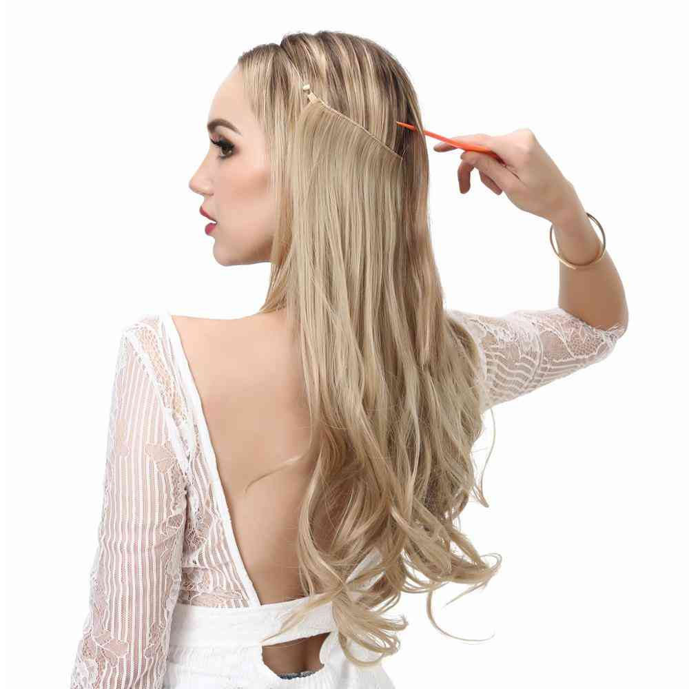 Adjustable- Hair Extensions, Wire Headband, Synthetic Hairpiece