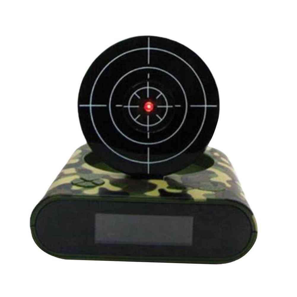 Creative Led  Display Digital, Mute Infrared Induction, Target Shooting, Alarm Clock