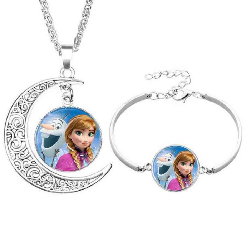 Disney Cartoon Princess, Frozen Suit Time Gemstone, Isana Alloy, Bracelet Toy