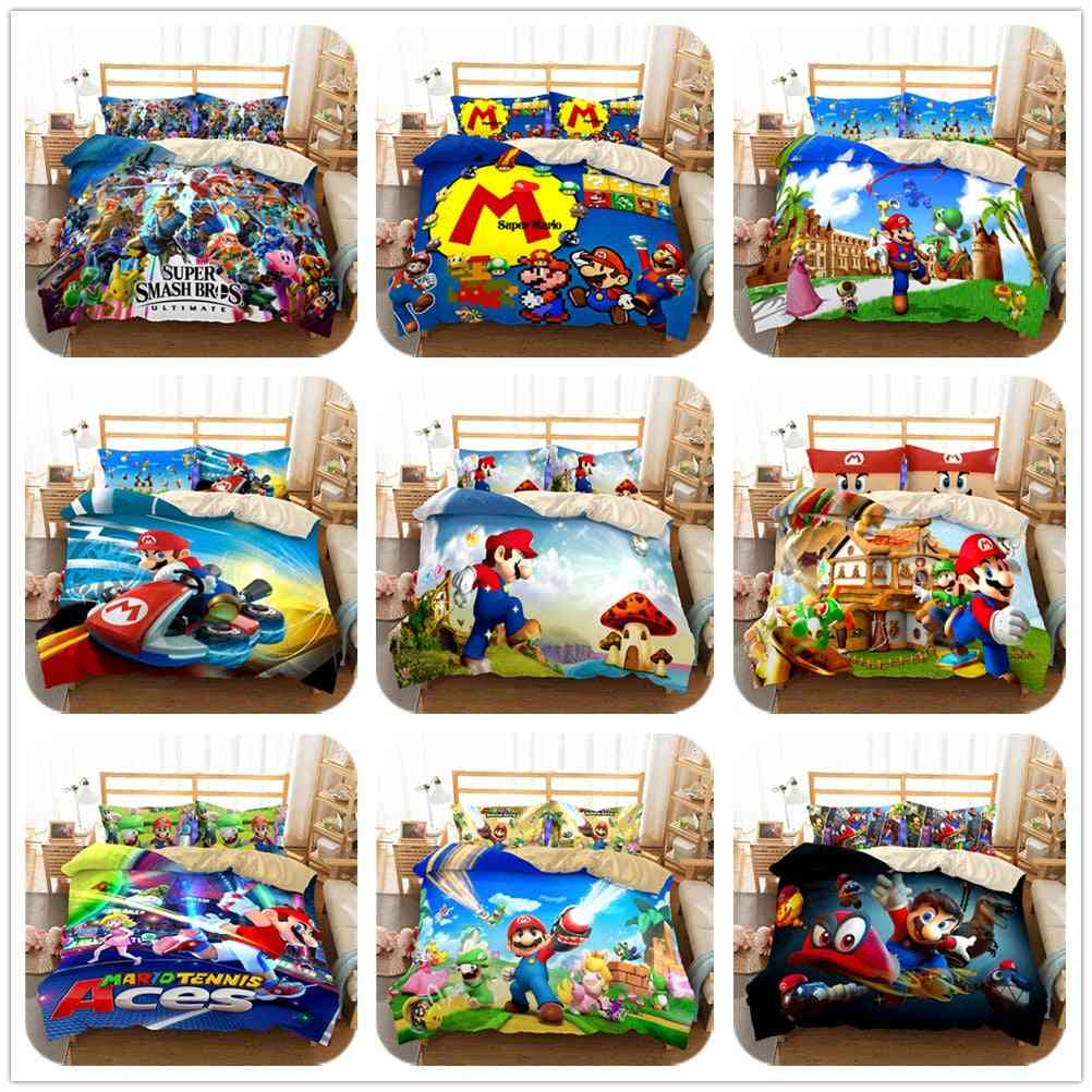 3d- Mario Odyssey, Switch Game, Duvet Cover Set