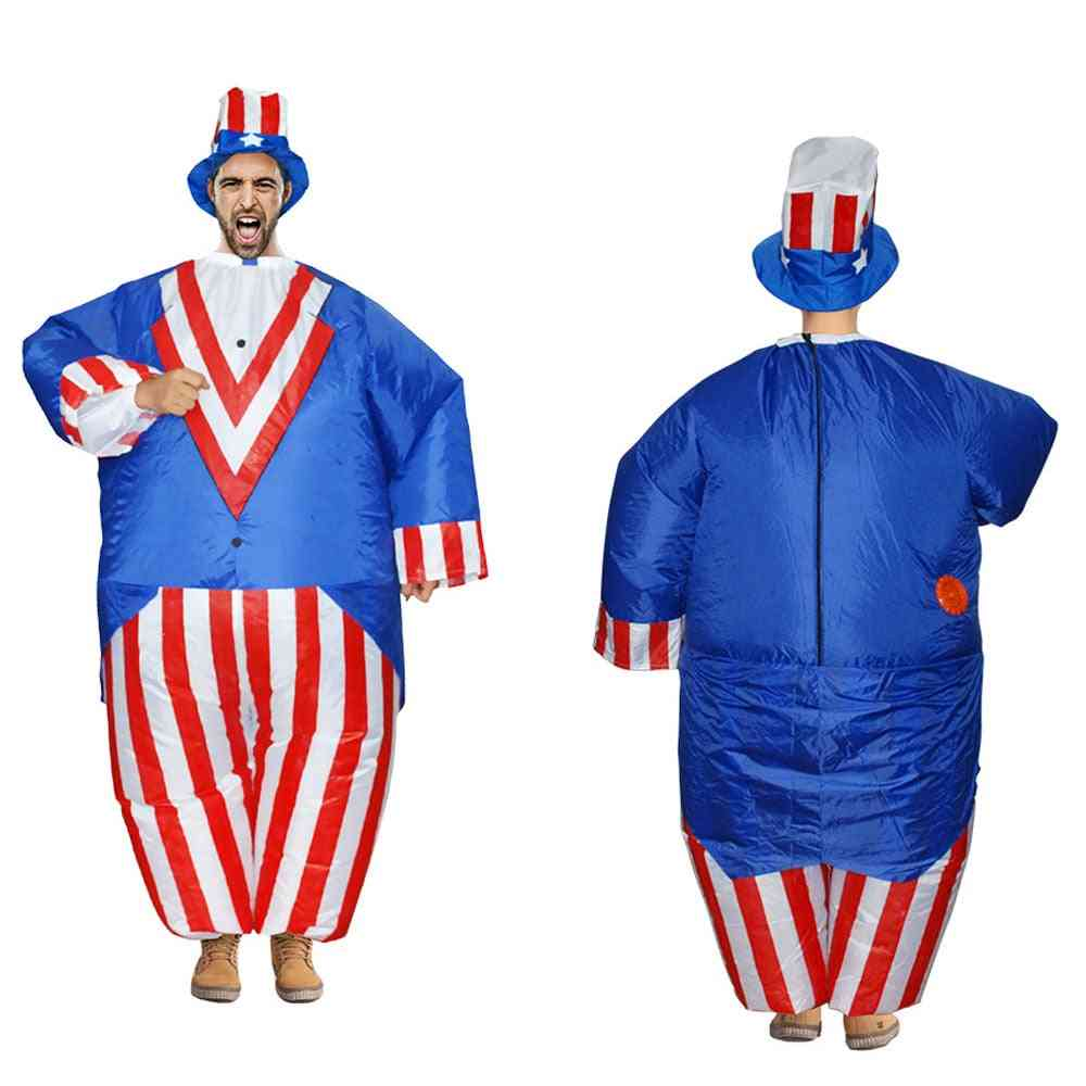 Uncle Sam- Inflatable Cosplay Halloween, Squeezable Stress Release Toy (adult(150-200cm))