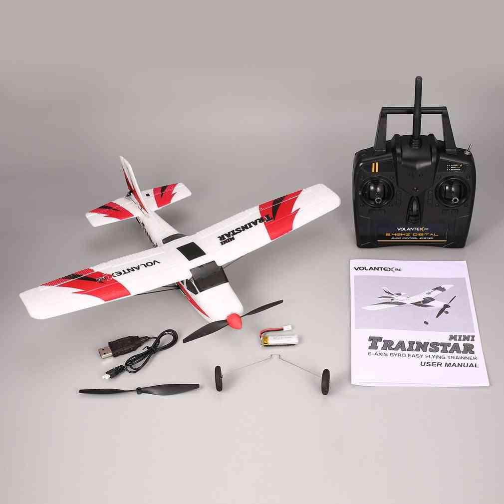 Mini Trainstar 6-axis Remote Control Rc Airplane