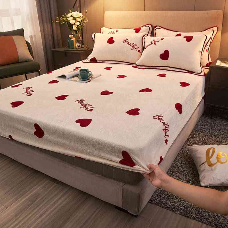 Winter- Fitted Thicken Mattress, Bed Sheet & Pillow Case, Cover Protector