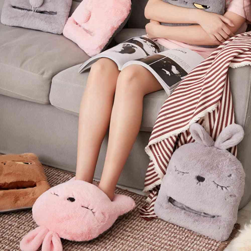 Usb Electric Heating Pad Rabbit Warm Foot Feet Slippers