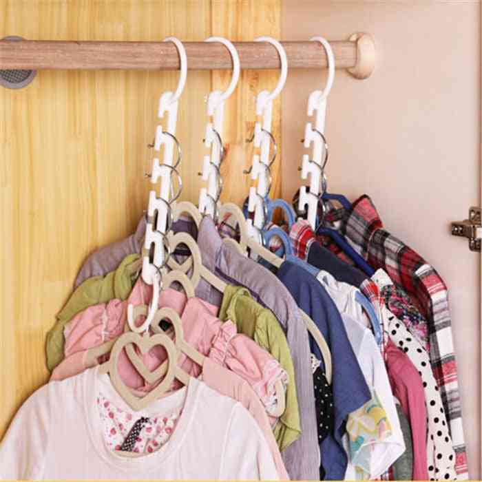 3d Space Saving Magic Clothes Hanger With Hook