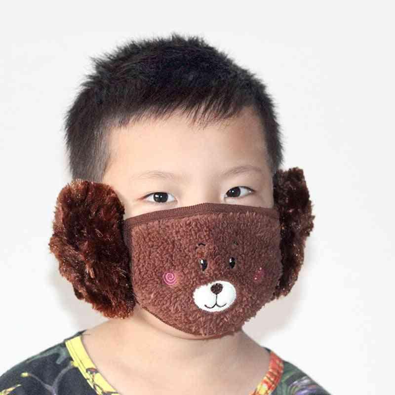 Cotton Bear Student Warm Earmuffs Warm Mouth Cover