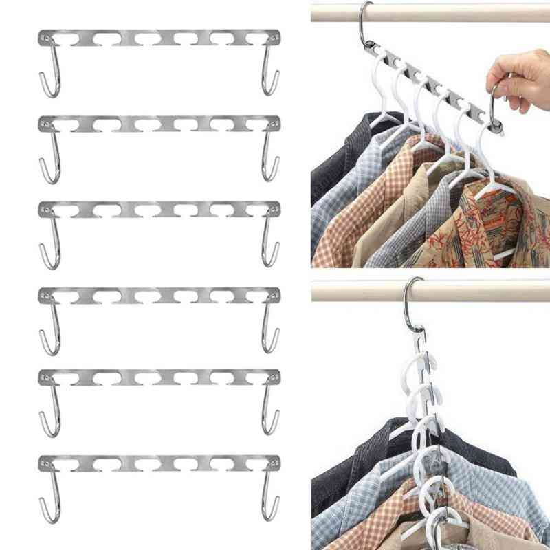 Metal Clothes Shirts Tidy Hangers, Closet Space Saving Practical Racks