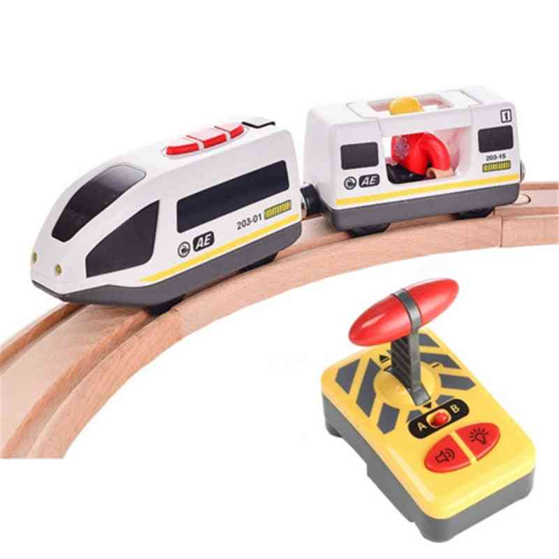 Remote Control Electric Train Toy Magnetic Slot Compatible
