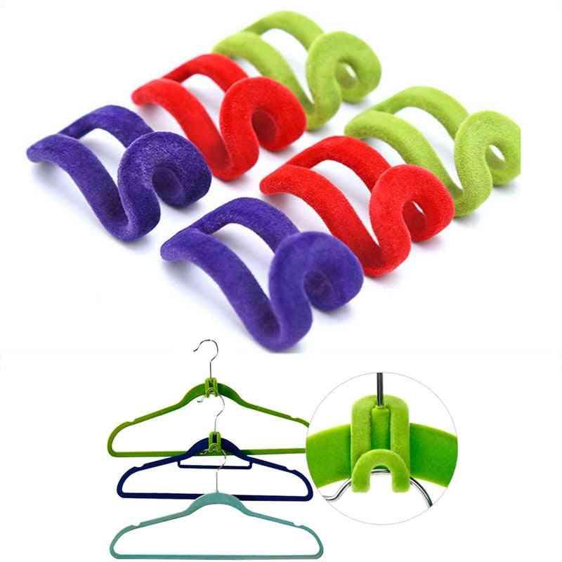 Mini Flocking Cloth Hook Hanger Holder