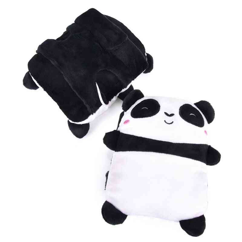 Usb- Panda Shape, Heated Hand Warmer, Half Finger Gloves (panda Shape)