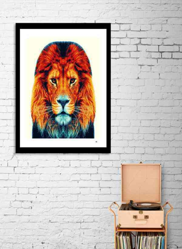 Lion - Colorful Animals  Frame
