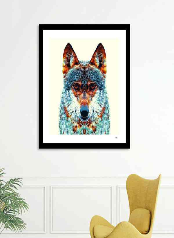 Wolf - Colorful Animals  Frame