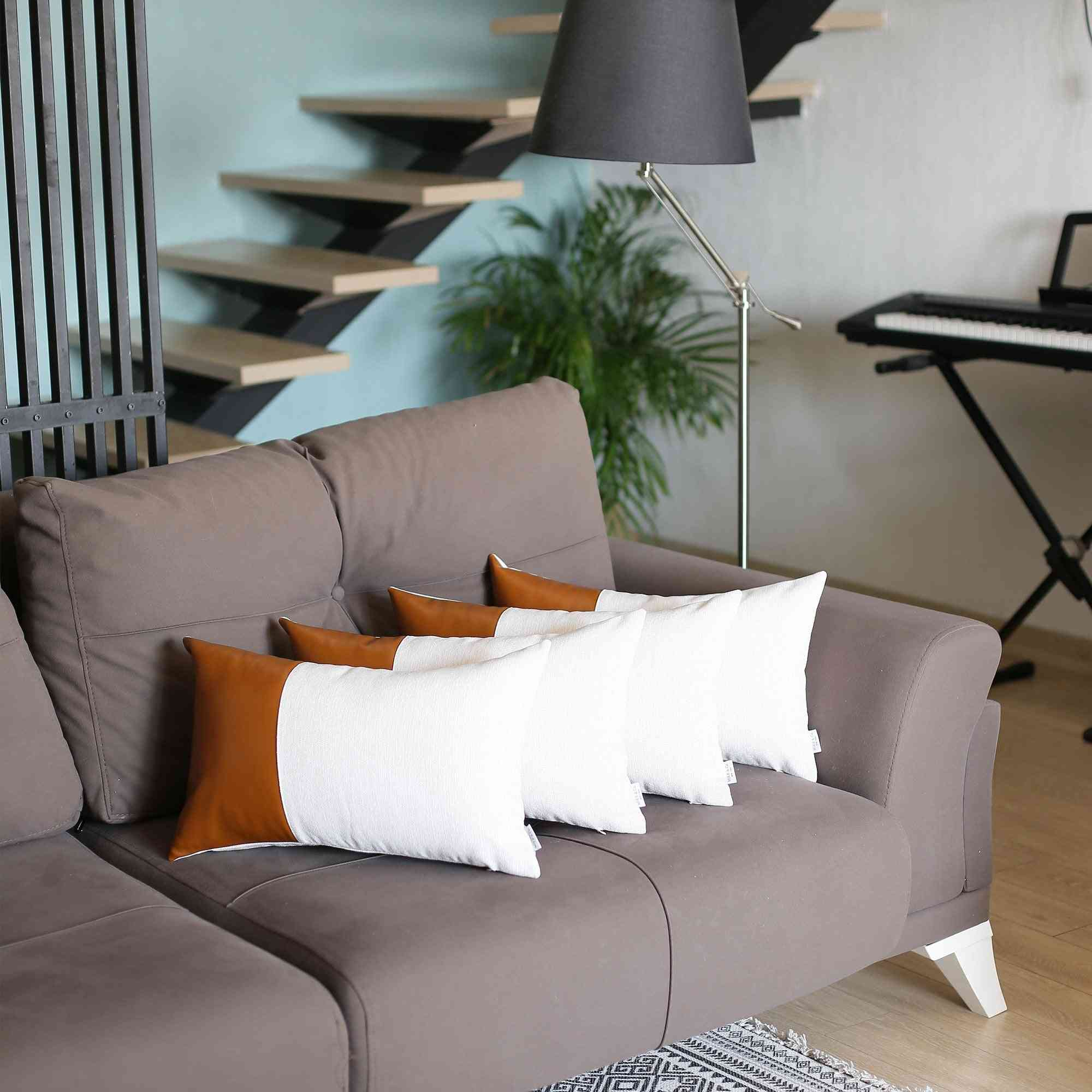 Decorative Leather Pillow Cover (set Of 4)