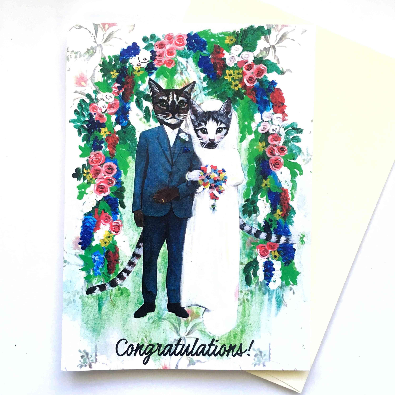 Congratulations Cat Wedding Card