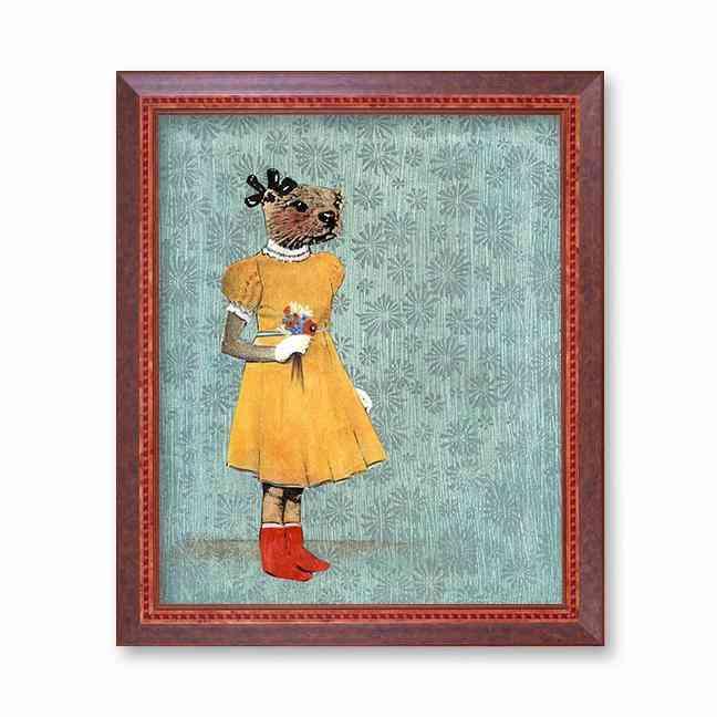 Otter In Yellow Dress Art Print