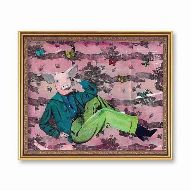 Lounging Pig Art Paintings