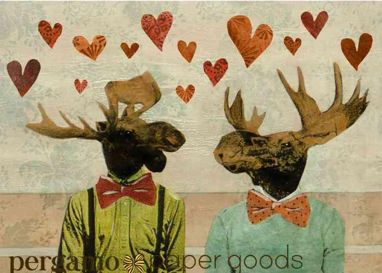 Moose Love Card With Cream Envelope