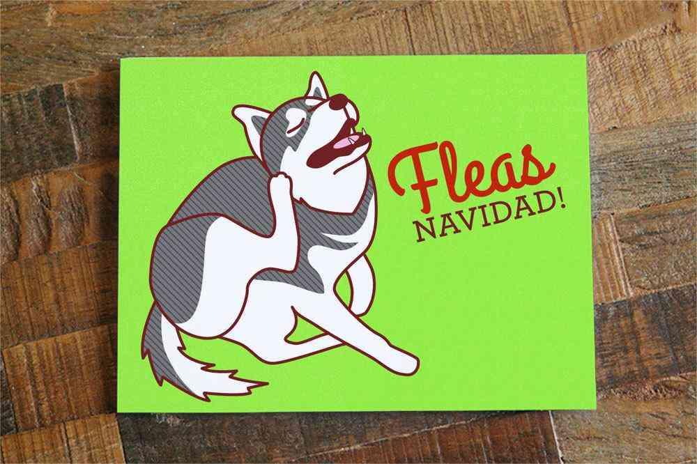 Fleas Navidad Dog Christmas Card