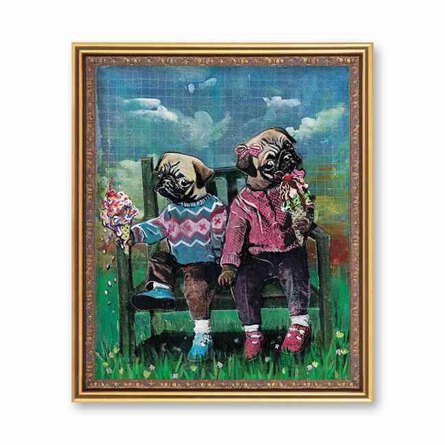 Pug Friends Art Print