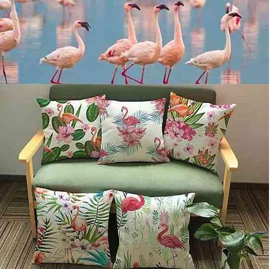 Fabulous Flamingos Cushion Covers