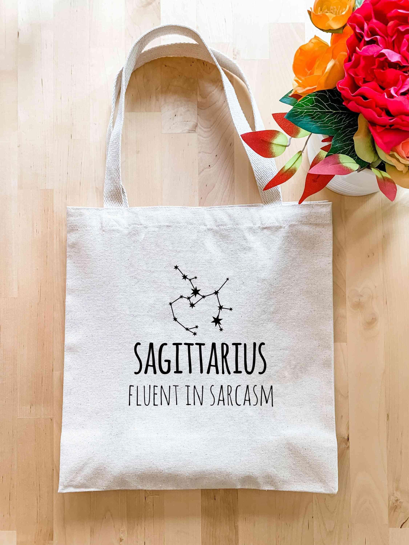 Sagittarius Zodiac (fluent In Sarcasm) - Tote Bag
