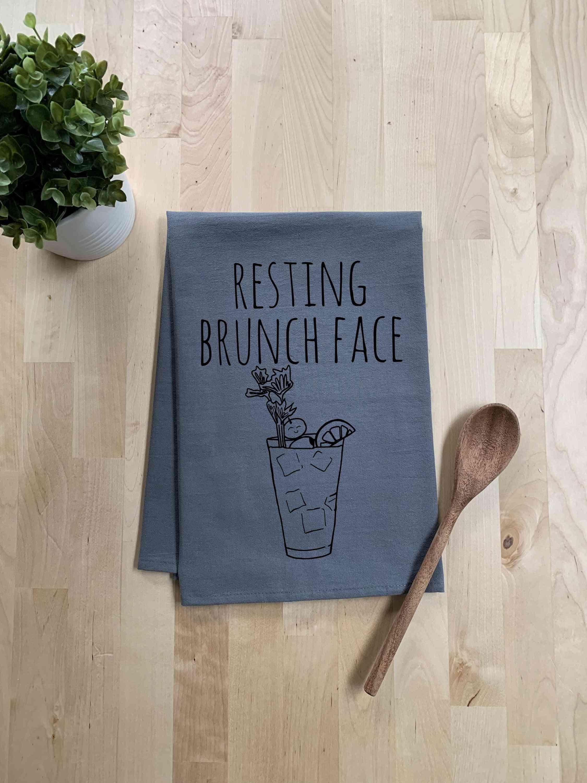 Resting Brunch Face - Dish Towel