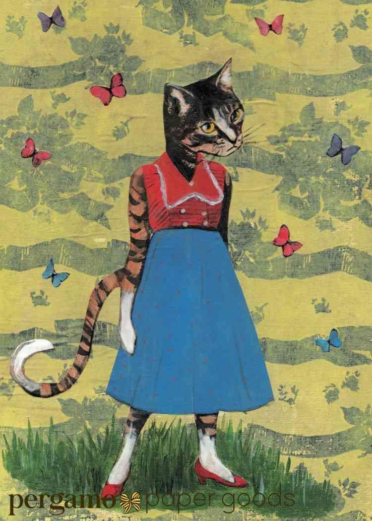 Fancy Cat Card