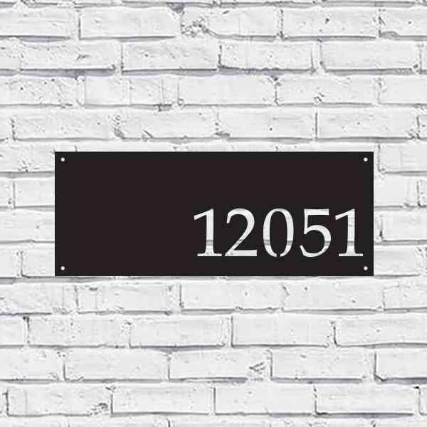 Metal House Address Sign - Horizontal