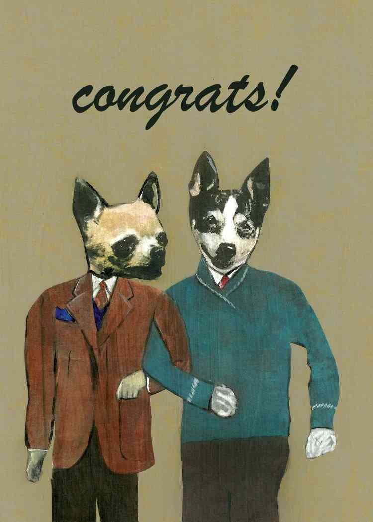 Congrats Dogs Greeting Card