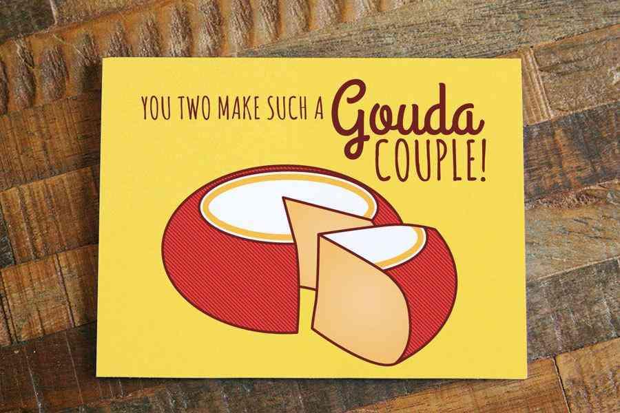Funny Cheese Wedding Card