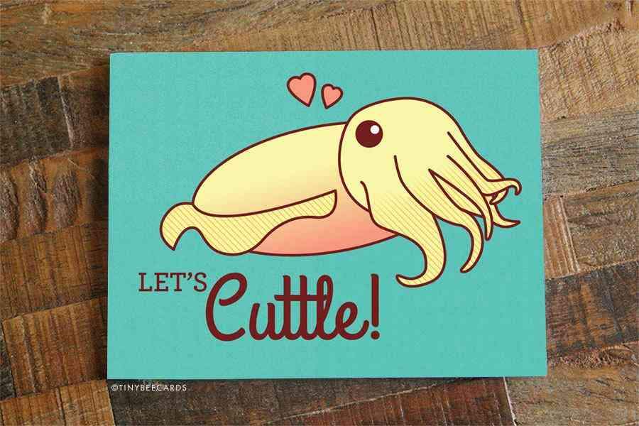 Funny Cuttlefish Love Or Anniversary Card