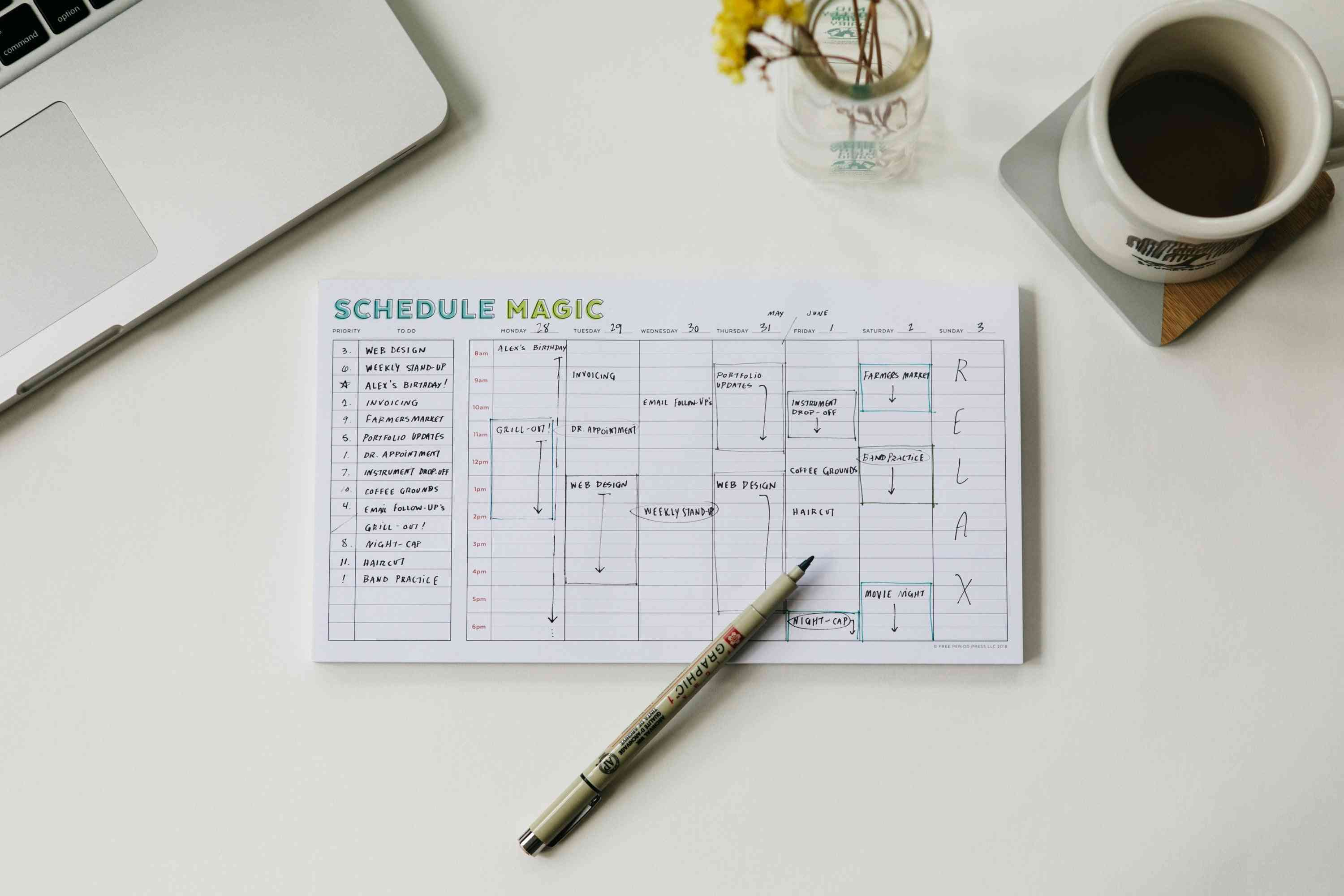 Weekly Schedule Magic To-do List - Notepad