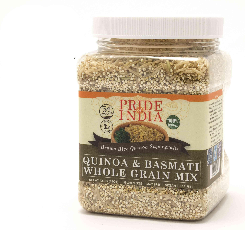 Quinoa & Brown Basmati Whole Grain Mix - Protein Rich Super Grain