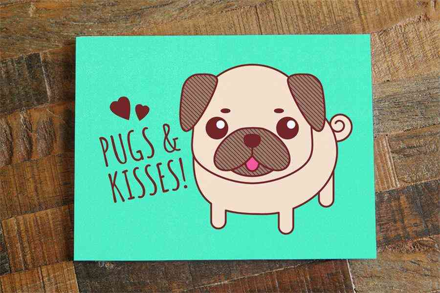 Pugs & Kisses Card